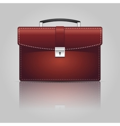 Red briefcase vector