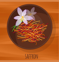saffron flat design icon vector image