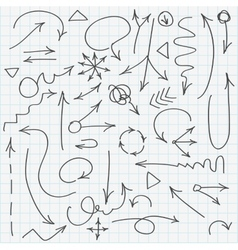 Set of various hand drawn arrows vector image