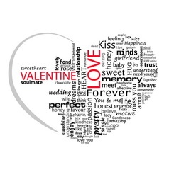 Valentines Day Perfect Love vector image