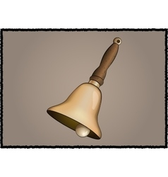 Vintage school bell vector