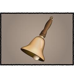 Vintage school bell vector image