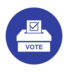 Voting paper with approved checkmark icon vector