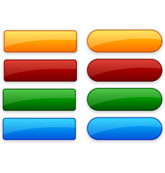 Web blank buttons vector image