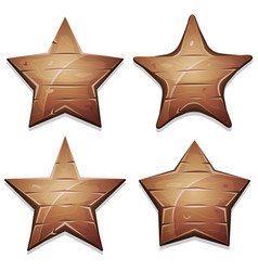 Wood stars icons for ui game vector