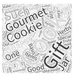 Gourmet gift baskets word cloud concept vector