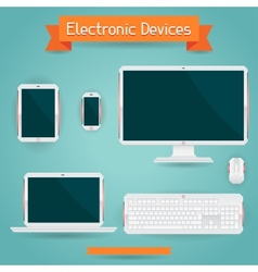 Electronic devices - computer laptop tablet and vector