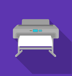 Large format printer icon in flate style isolated vector