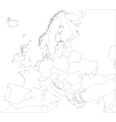 Outline europe map vector
