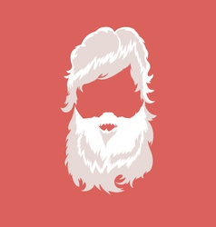 Bearded man silhouette with long hair vector