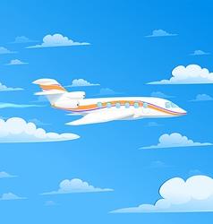 flying plane vector image