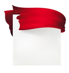 ribbon background vector image