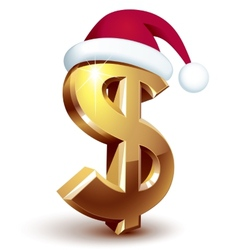 Christmas dollar vector image
