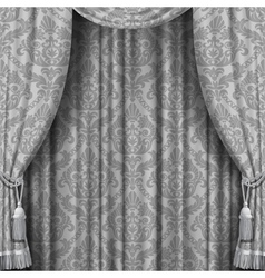 Gray curtain vector