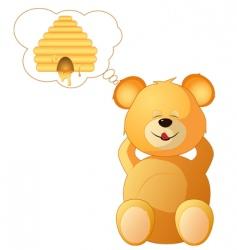 teddy dreams vector image