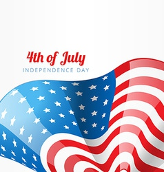 American flag style design vector
