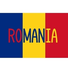 Romanian flag and word romania vector