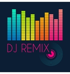 Dj remix typography t-shirt graphics vector