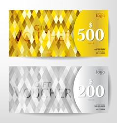 Gold silver vouchers vector
