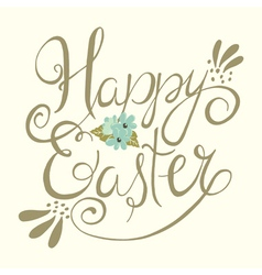 Easter greeting background vector