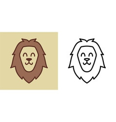 Smiling Happy Lion vector image