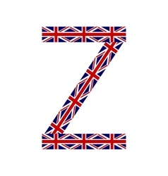 Letter z made from united kingdom flags vector