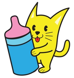Baby Cat vector image vector image