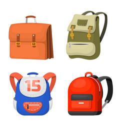 back to school kids backpack vector image vector image