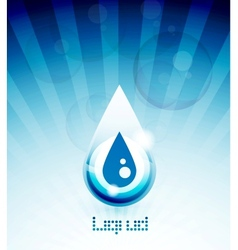 Blue water drop concept vector image