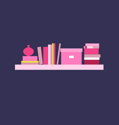 Bookshelf vector