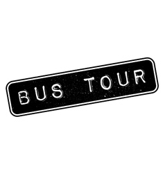 Bus tour rubber stamp vector