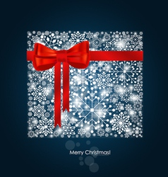 Christmas background with gift box made from vector image vector image