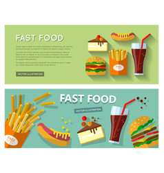 fast food eat vector image vector image