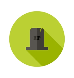 Grey tombstone rip flat icon vector