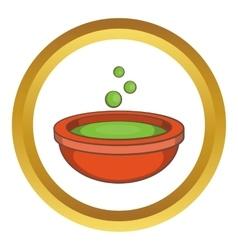 Halloween green potion icon vector
