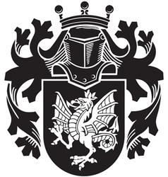 Heraldic silhouette no14 vector