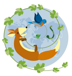 nature food chain vector image