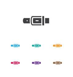 of shopping symbol on belt vector image