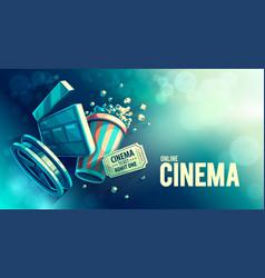 online cinema art movie vector image vector image