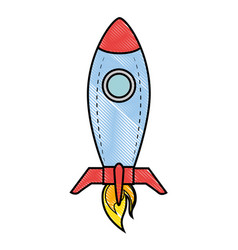 Rocket spacehip isolated vector