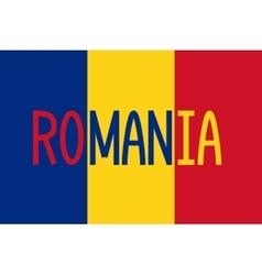 Romanian flag and word romania vector