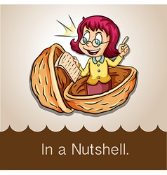 Saying in a nutshell vector image