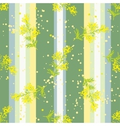 Seamless vertical pattern with flowers mimosa vector