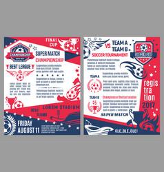 Soccer football match tournament poster vector
