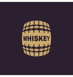 The whiskey icon cask and keg alcohol whiskey vector