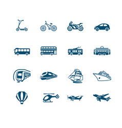 transportation icons - micro series vector image vector image