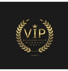 VIP members only vector image