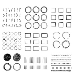 Big set of hand-drawn doodle design elements vector