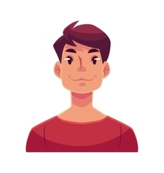 Young man face neutral facial expression vector