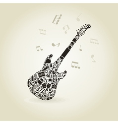 Art a guitar vector